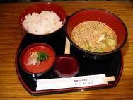 冷や汁定食(550円)